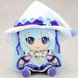 "Wholesale Miku Vocaloid Plush - Hatsune Miku Plush 12"" New Vocaloid Hatsune Miku Sitting Snow Miku Plush Doll Soft Stuffed Toys for Kids Girls Brithday Gift"