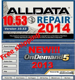 Wholesale Manual Ford - 2017 Alldata software Alldata mitchell hdd Auto repair software and 2015 Mitchell OnDemand5 Repair & Estimator manual+750G HDD free shipping