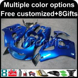 Wholesale 1997 Suzuki Fairing Kit - 23colors+8Gifts BLUE kit motorcycle cowl for Suzuki GSX-R600750 1996-2000 96 00 GSXR750 1996 1997 1998 1999 2000 ABS Plastic Fairing