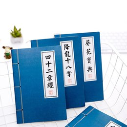 Wholesale Memo Pad Vintage - A5 Student Notepad 30 Sheets Secret Martial Arts Cover Chinese Style Blue Notebook Creative Lovely Memo Pad Stationery