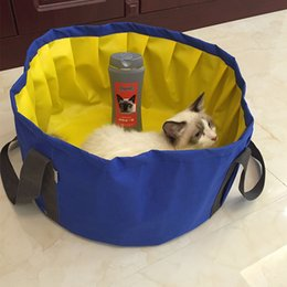Wholesale Product Pool - Aipet Pet Daily Necessities 2 Color Dog Cat Foldable Swimming Bath Bathtub Pool Puppy Human Aipet083