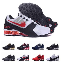 Wholesale Shox Brand Shoes - 2017 SHOX Avenue 802 shoes deliver NZ R4 809 men running shoes brand for air cushion shox sneakers sports jogging trainers 36-46