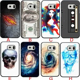Wholesale Skull Galaxy Note Cases - Non-mainstream Flag Skull Pattern Flash Logo Hot Cell Phone Case for Samsung galaxy S3 S4 S5 S6 samsung Note 2 note3 note4 5 Back cover case