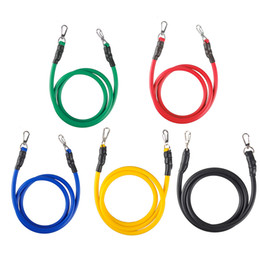 Wholesale crossfit resistance bands set - Outdoor Sports Latex Resistance Bands Workout Exercise Pilates Yoga Crossfit Fitness Tubes Elastic Pull Rope 11 Pcs Set 2502057