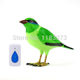 Wholesale Remote Control Birds - Wireless Bird Remote Control Chime Doorbell Alarm Natural Digital Home Door Bell Jingle Bell With LED Indicator