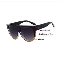 Wholesale Top Brands Wayfarer Sunglasses - AOFLY 2016 Fashion Sunglasses Women Flat Top Style Brand Design Vintage Sun glasses Female Rivet Shades Big Frame Shades UV400