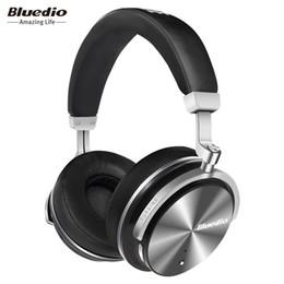 Wholesale Headphones Active Noise - Bluetooth Earphones Bluedio T4S Active Noise Cancelling Wireless Bluetooth Headphones wireless Headset with Mic for Gift Box