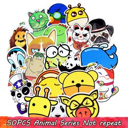 Wholesale Poster Quality - 50PCS Custom Animals Styling Stickers Poster Wall Stickers for House Laptop Skateboard Luggage Car DIY Top Quality Funny Kid Sticker
