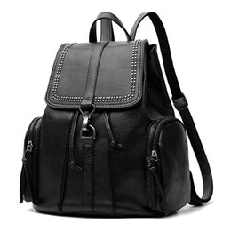 Wholesale Holiday Backpacks - MU LANG Women double shoulder bag style new women's backpack the style school style travel on holiday