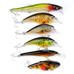 Wholesale Japan Wholesale Fishing Hooks - 6Pcs Lot Fishing Lure Top Quality Fishing Tackle Exported To Japan 6Color Fishing Bait Minnow Lures 3Px Origng Hook for Fish