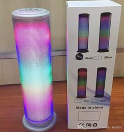 Wholesale Dancing Mini Music Speaker - JHW-V169 Colorful Dazzle LED Light Pulse Dancing Wireless Bluetooth Speaker Portable Outdoor Stereo Surround Music Player Handsfree retail