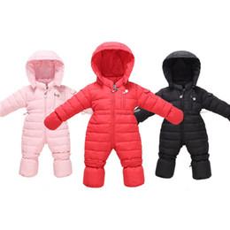 Wholesale Down Coat Romper - Winter Hooded Kids Down Coat Designer Warm Romper Down Jacket Newborn Outwear for Boys and Girls H007