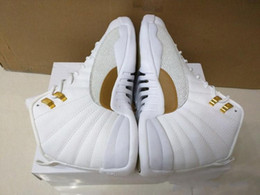 Wholesale Band Printing - Super Perfect Quality RETRO 12 OVO 12 White Mens Basketball Kids Sport Shoes