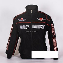 Wholesale Racing Jacket Coat - Wholesale- F1 automobile race clothing full embroidery cotton-padded coats work wear HD embroideried winter wadded jacket