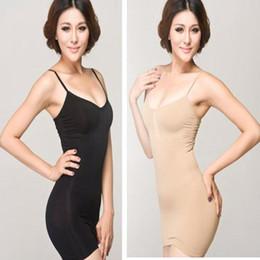 Jupe shapewear en Ligne-Femmes ferme contrôle du ventre complet robe jupe Slip Body Shaper Underbust Shapewear deux couleurs sans tailles de haute qualité femmes Shaper robe