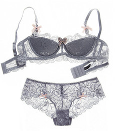 Wholesale young women - Big size Intimates 70-85 ABCD cup Euramerican transparent sexy women bra set ultrathin push up young ladies underwear sets