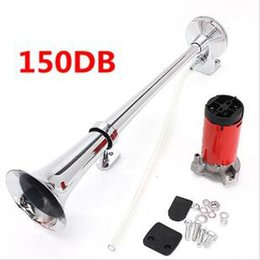Wholesale Boats Speakers - 2017 Hot! Single tube whistle modified horn sound 150DB Super Loud 12V Single Trumpet Air Horn Compressor Truck Lorry Boat Train