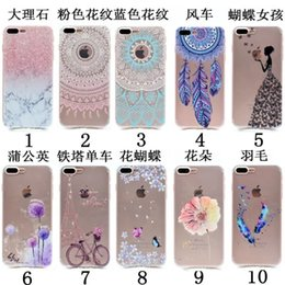 Wholesale gel mate - For Huawei Mate 10 P9 Plus P8 Lite Y3 II Y5 II honor 8 V8 Marble Flower Butterfly Tower Lady Soft TPU Gel Case Henna Dandelion Dreamcatcher