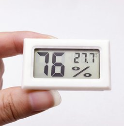 Wholesale Meters Temperature Sensors - 10PCS RH Detecting LCD Head Mini indoor Thermometer Temperature sensor Humidity Meter Aquarium Gauge Industry Hygrometer