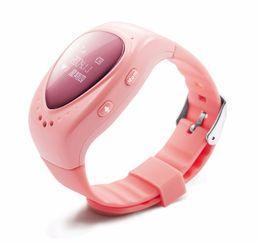 Wholesale Gsm Button - Free shipping Waterproof fashion GPS Tracker Watch Children Smart Watch with SOS Button GSM Phone Wristwatch