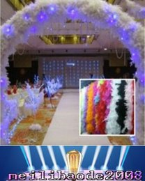 Wholesale Pink Feather Boas - NEW Feather Wedding Decorations 2m Long Boa Fluffy Craft Costume Feather Plume Centerpiece For Wedding Party Decoration MYY