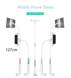 Wholesale Arm Padding - 360 degree Flexible Arm mobile phone holder stand 127cm Long Lazy People Bed Desktop tablet mount for 4-10.5 inch Phone and Pad