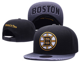 Wholesale Boston Snapback Hats - New Caps Hockey Snapback Caps Hats Boston Bruins Cap Black And Gold Color Mix Match Order All Caps in stock Top Quality Football Hat