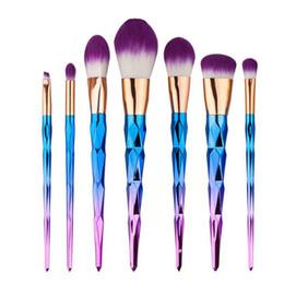 Wholesale Diamond Setting Tool Kits - Mermaid Unicorn Screw Diamonds Gourd Makeup Brushes Sets 3D Colorful Professional Brushes Foundation Blush Cosmetic Brush Set Kit Tools b816