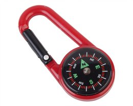 Wholesale Survival Compass Kit - Camping Hiking Mountaineering Portable Buckle with Compass G27 Hard Plastic Outdoor Keychain Survival Tools Travel Kit