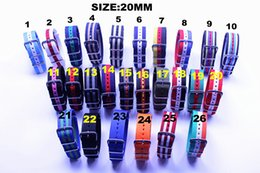 Wholesale Nylon Watch Band Strapping Wholesale - Wholesale-Wholesale 10pcs lot High quality 20MM Nylon Watch band NATO waterproof watch strap colorful fashion wach band- NATO strap NEW
