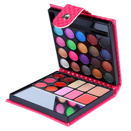 Wholesale Eyeshadow Blush Lip Gloss - Wholesale-4 Different Style Eye Shadow Palette New fashion 32 Colors Cosmetic Powder Eyeshadow Blush Lip Gloss 6 in 1