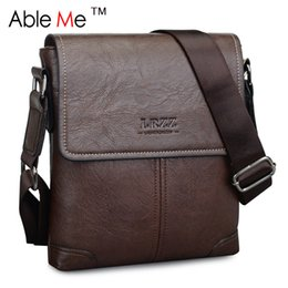 Wholesale Lady D Handbag - Wholesale-PU Leather Crossbody Bag For Men Handbag With Adjustable Shoulder Strap Have Cover Messenger Bags Gift For Men