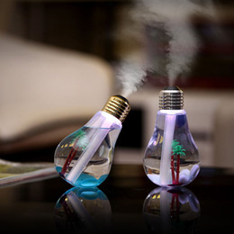 Wholesale Aroma Bulb - USB Bulb Humidifier Lamp light bulbs Home Aroma LED Humidifiers colorful Air Diffuser Purifier Atomizer For Car Household Use home Decor