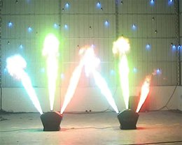 Wholesale 3m Machine - 1pcs lot,1-3m Height Flame Projector Fire Machine DMX Cool Effects 220W Triple Flame Projector