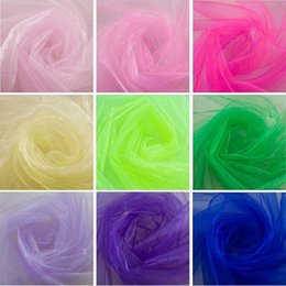 Wholesale Pink Draping Fabric - Wholesale Wedding Supplies Decoration 75cm Width 18 Colours Sheer Mirror organza Fabric For Wedding Drape Decoration