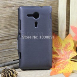 Wholesale M35h Case - Free Shipping Fashion Black Color Flip Leather Phone Case Hard Back Cover With Magnetic For Sony Xperia SP M35h C5302 C5303C5306