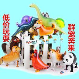 Atacado, vários folha de alumínio hélio andando Animal Pet balões, presente de brinquedo do bebê. Nova chegada! Frete grátis, cheap wholesale animal balloons walk de Fornecedores de balões de animais por atacado a pé
