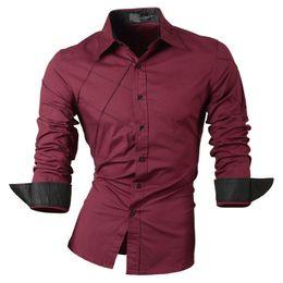 81c8b438a camisas casuales vestido para hombre ropa masculina de manga larga social slim  fit marca algodón occidental botón blanco negro t