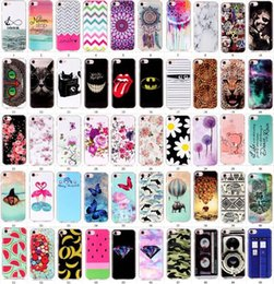 Wholesale Banana Phone Iphone Case - 50 designs Beautiful print Elephant flower banana leopard print butterfly Soft TPU Phone cover case for iphone 7 7G iphone7 plus