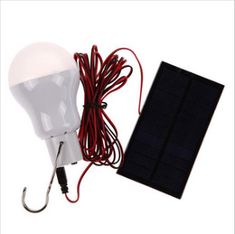 Wholesale Solar Panel Camp - 0.8W 5V portable solar power LED bulb lamp solar panel applicable outdoor lighting camp tent fishing lamp garden light