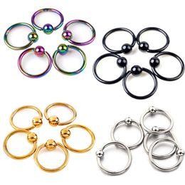 Wholesale Nose Ring Captive - 50pcs 2016 Free Shipping Titanium Captive Rings BCR Eyebrow Tragus Nose Nipple Ring Bar CBR Lips Piercings tragus ring