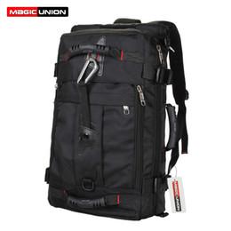 Wholesale Purpose Design - Wholesale- MAGIC UNION Brand Design Men's Travel Bags Fashion Men Backpacks Men's Multi-purpose Travel Backpack Multifunction Shoulder Bag
