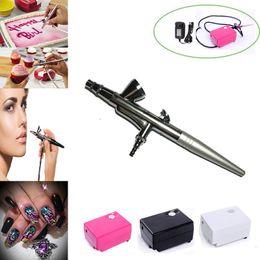 Air Brush Compressor 0.4mm Kit de maquillage à l'aiguille pour les aérographes de pistolet de peinture de corps de visage des ongles de gâteau Tatouage temporaire ? partir de fabricateur