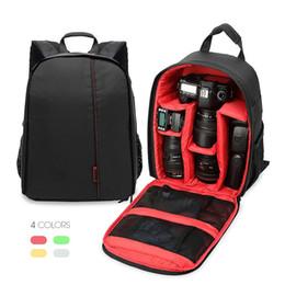Wholesale Canvas Dslr Camera Shoulder Bag - New Photography Digital DSLR Camera Bag Backpack Waterproof Photo Camara Bags Case Mochila