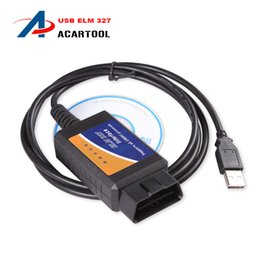 Wholesale Opel Bus - Best Quality ELM327 USB Scanner Interface OBDII OBD2 Auto CAN-BUS Diagnostic ELM 327 USB 2015 Latest Version V2.1 Free Shipping