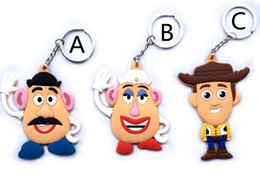 Wholesale Pictures New Movies - New 100pcs Lot cartoon Toy story andy Jasimina Buzz Lightyea Woody PVC keychain Double Sided Picture , Free shipping