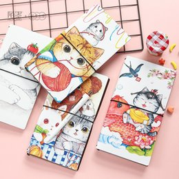 Wholesale Paper Crafting Books - Wholesale- 1Pc PU Leather Handmade Craft Paper Traveler's Notebook Schedule Book Diary Weekly Planner Notebook Copybook Cute Stationery