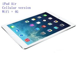 Wholesale Display 4g - Refurbished iPad Air Cellular version 16GB 32GB 64GB Wifi +4G 100% Original iPad 5 Tablet PC 9.7inch Retina Display refurbished Tablet