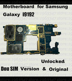 Wholesale Board Software - Wholesale-Original Unlocked For Samsung galaxy S4 mini i9192 motherboard ,DOU SIM 100% working mainboard with software logic system board