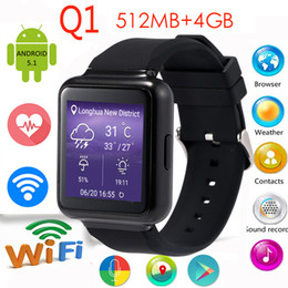 Wholesale Android Phone 512 Ram - High quality Finow Q1 Alarm Intelligent improved version 1.54 inch Screen Android ROM RAM 512 4GB GPS 3G WiFi Bluetooth SmartWatch pedometer